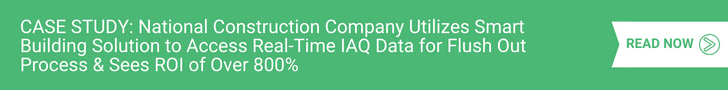 National Construction Company Utilizes Smart Building Solution to Access Real-Time IAQ Data for Flush Out Process & Sees ROI of Over 800%
